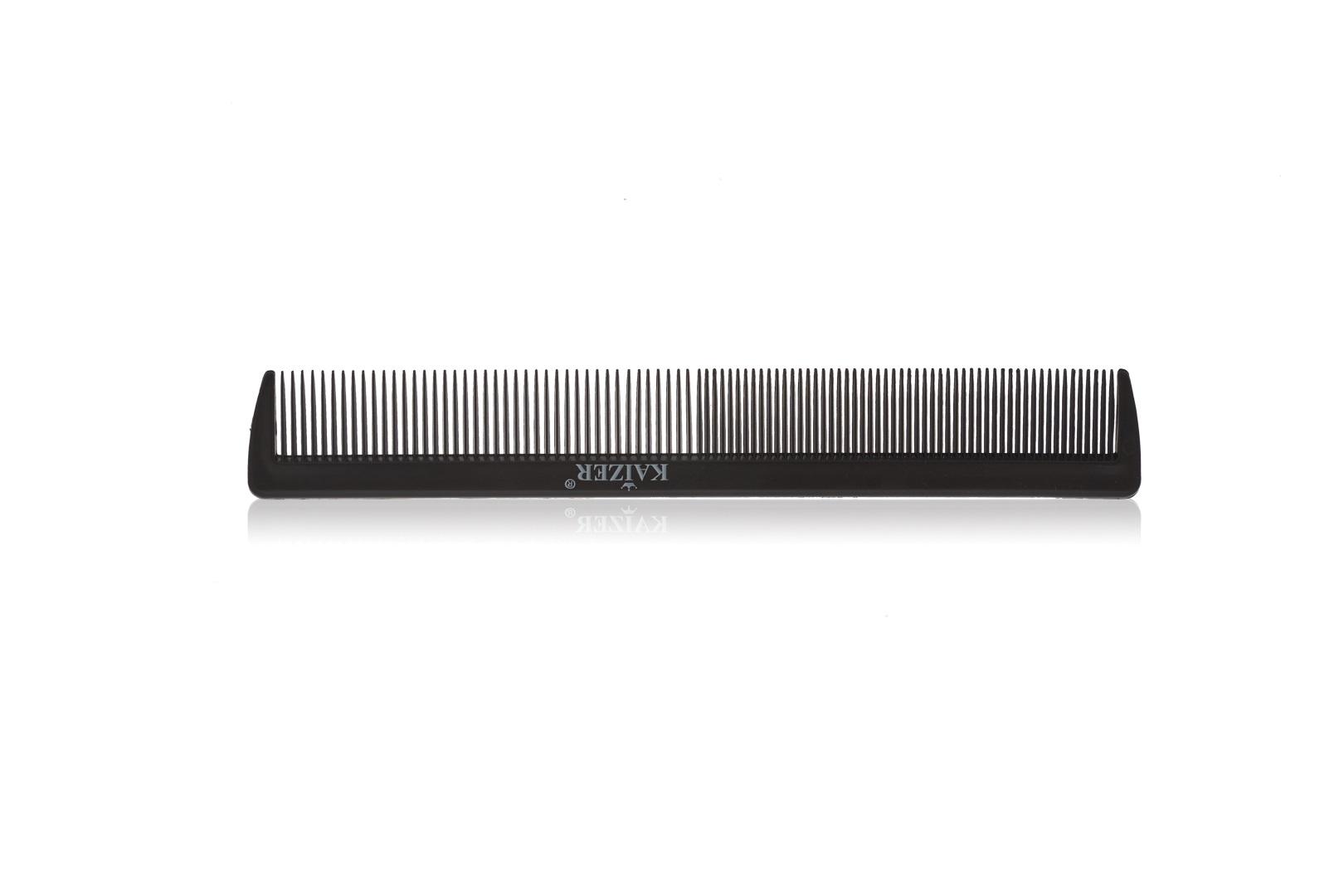 Гребень пластиковый без ручки чёрный