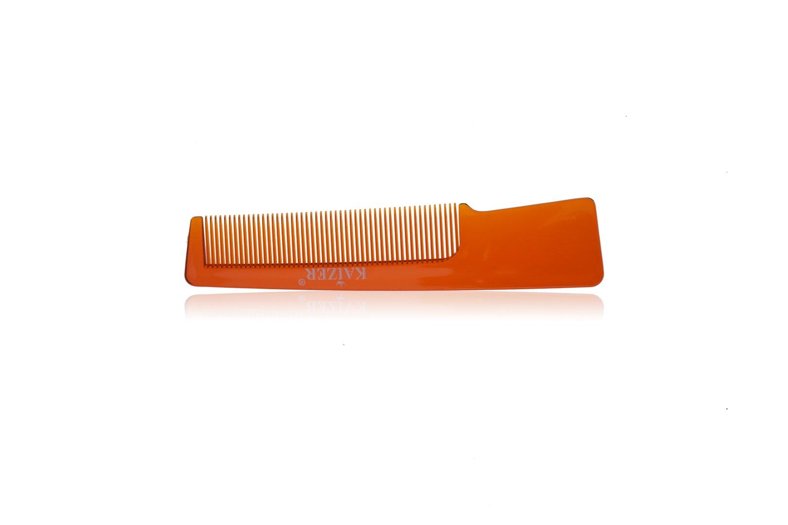 Гребень пластиковый с ручкой коричневый