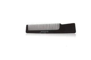 Гребень пластиковый с ручкой чёрный