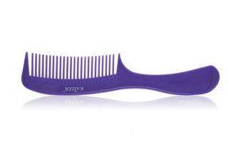 Гребень пластиковый с ручкой фиолетовый