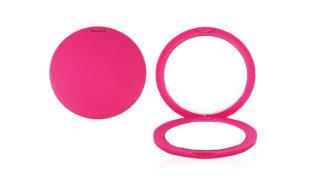 Зеркало круглое розовое