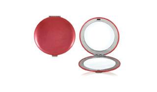 Зеркало круглое красное