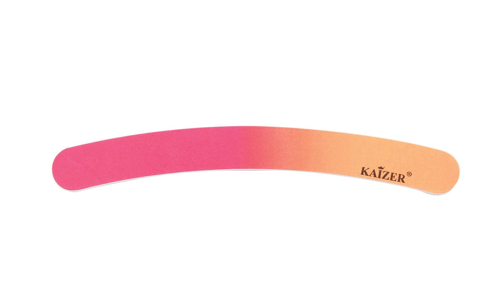 Пилка шлифовочная бумеранг оранжевая с розовым