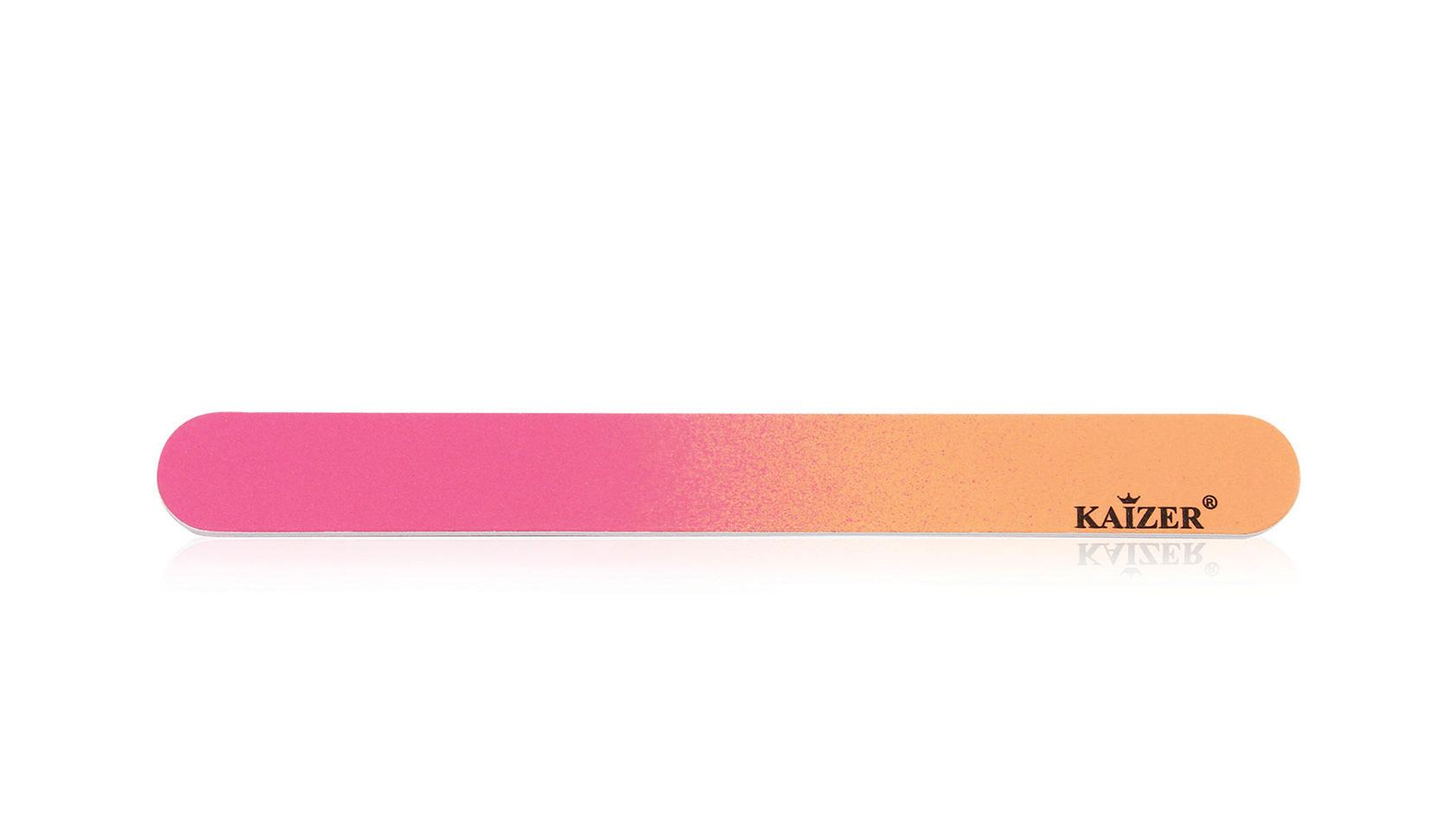 Пилка шлифовочная прямая оранжевая с розовым