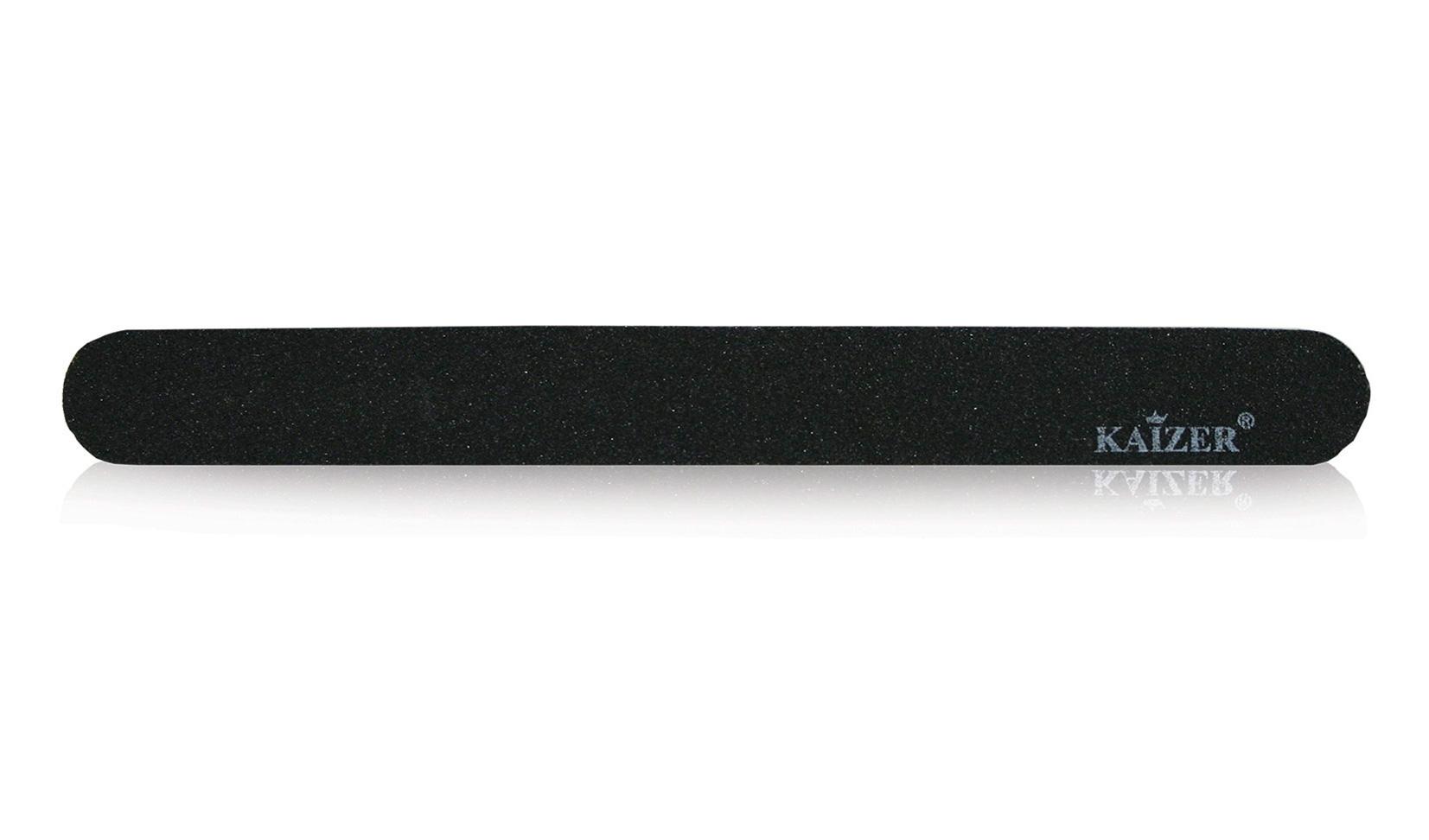 Пилка шлифовочная прямая чёрная на деревянной основе