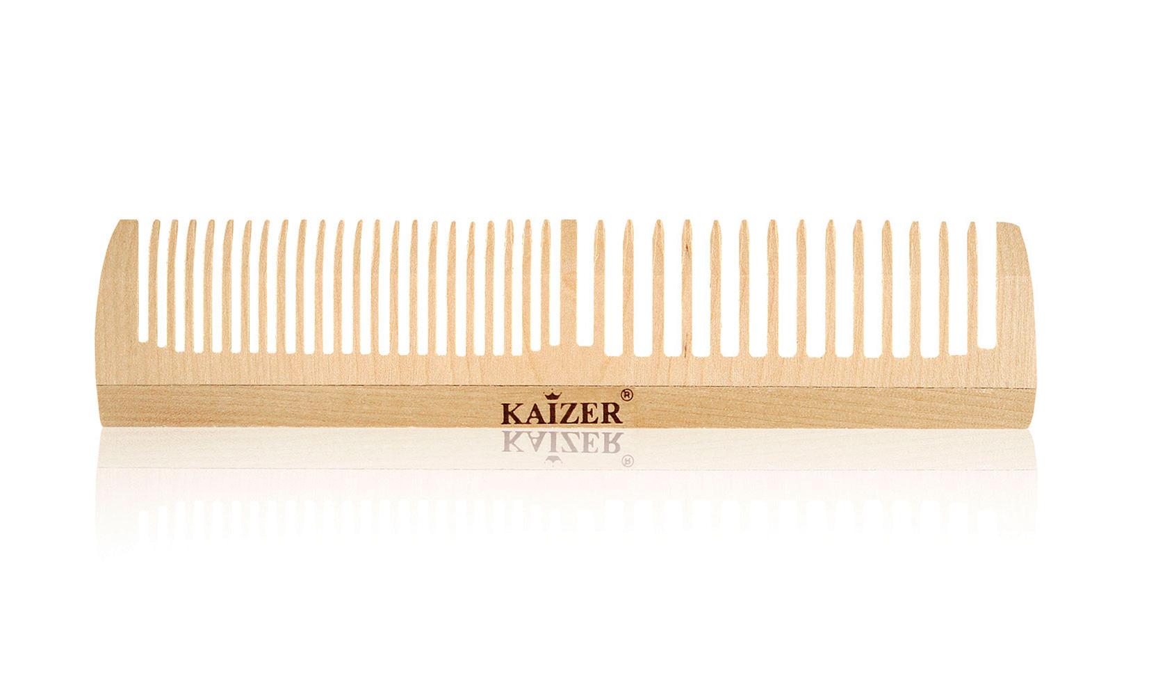 Гребень деревянный комбинированный без ручки